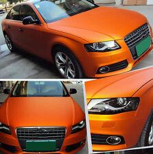 Stretchable Matte Satin Chrome Orange Car Vinyl Wrap Air Bubble Free