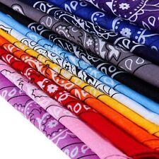 3 Pack 100% Cotton Paisley Print Bandanna Scarf Handkerchief Face Cover