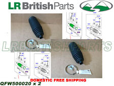 LAND ROVER STEERING RACK BOOT RANGE ROVER SPORT 05-13 SET OF 2 NEW QFW500020