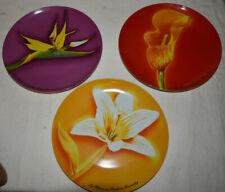 3 Fleurs de Parfums Givenchy Dessert Plates Bird of Paradise Calla Easter Lily