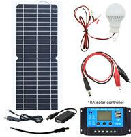 10Watt 12 Volt Solar Panel Kits+10A Controller Trickle Car Battery Charger Free