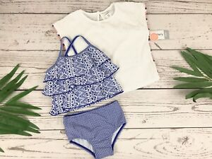 Carter's Baby Girls' 3-Piece Tankini & Cover Up Set Size 12Months MSRP$40.00
