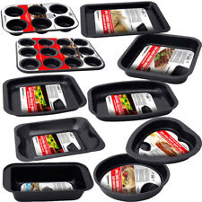 SET OF 12 NON STICK BAKING TRAY PAN SET MUFFIN OVEN ROASTING BAKEWARE ROAST NEW