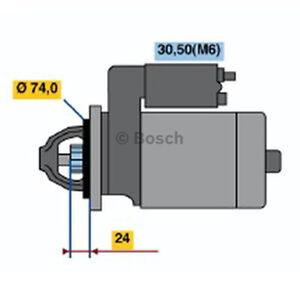 Bosch Starter Motor 0 001 115 045 fits BMW 5 Series 520 d (E60) 130kw, 530 d ...