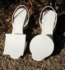 Irregular Women's Sandals Shoes Open Toe Cuban Heel Slingback Buckle Roma Summer