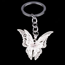 Sweet Crystal Butterfly Keychain Keyring Key Chain Party Gift Charm Bag Purse