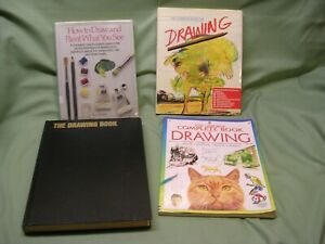 4 Different Drawing Books, Sketching, Pencil Drawing, Ink Drawing