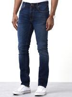 Nudie Herren Slim Fit Röhren Stretch Jeans Hose | Lean Dean Ink Navy |W29 L32