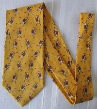 ERMENEGILDO ZEGNA Soft CRAVATTA TIE in SETA 100% fantasia fondo Giallo Cod. AS