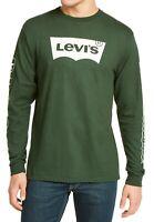 Levi's Mens T-Shirt Green Size XL Tundra Logo Crewneck Long Sleeve Tee $34 207