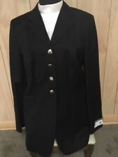 The Elite Dressage Coat *Ladies 14R *Black 100% Wool Made Canada New