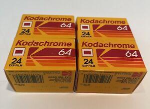 4 Rolls Kodak Kodachrome 64 Color Slide Film-24 Exposure Expired 1992