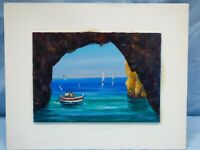 Beautiful Contemporary Oil on Board Art Painting Artist Signed Sea Ocean Boats