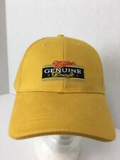 New Miller Genuine Draft MGD Beer Hat Embroidered Logo Adjustable Yellow