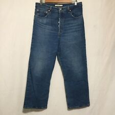 New listing Levis Ribcage Straight Button Fly Mom Jeans 32X26