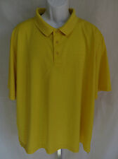 Cabelas Mens Size 3XL Wick Advance Short Sleeve Yellow Polo Shirt Top