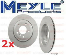 2-Meyle GEOMET®Anti Rust Coated Rear Rotors BMW E60 525i 528i 530i