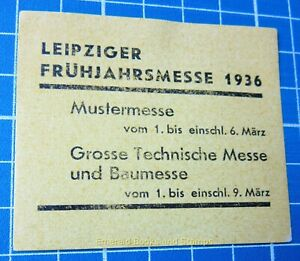 Cinderella Stamp - Germany 1936 - Frühjahrmesse LEIPZIG - c97