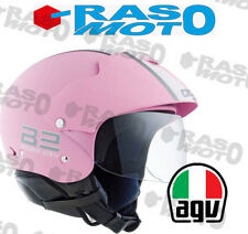 Casco AGV Bali B2 Trendy E2205 Multi Plain Bianco e rosa taglie S L
