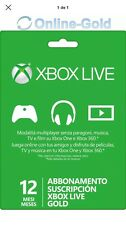 DIGITAL-xbox live gold 12 meses XBOX ONE-NO CODE-