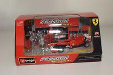 V 1:32 BBURAGO BURAGO RACE&PLAY FERRARI F10 FORMULA 1 F1 RED DIORAMA MIB