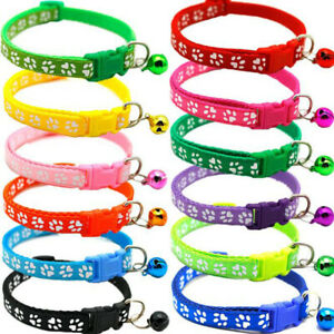 Adjustable Nylon Safety Collar with Bell for Cat Kitten Dog Pet Puppy Supplies