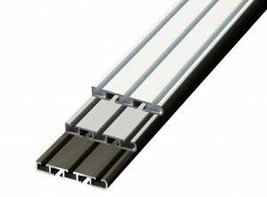 Gardinenschiene Deckenmontage zum Bohren APS 2/3 läufig Set Schiene Aluminium