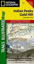 National Geographic Trails Illustrated Colorado Indian Peaks Gold Hill Map 102