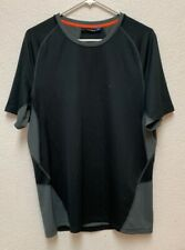 J. Lindeberg Active Elements Jersey Black/Gray Melange Golf T-Shirt Sz L