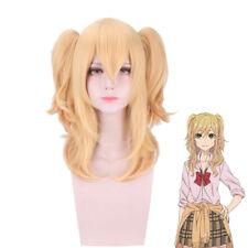 Citrus Anime Yuzu Aihara Wig Cosplay Long Blonde Hair Pigtails Womens Fringe