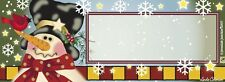 Country Snowman/Winter Address Mailbox Magnet