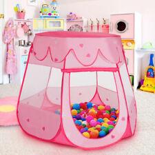 Kinder Zelt Bällebad Baby Spielhaus Krabbeltunnel Spiel 100 Bälle Pup Up Tunnel