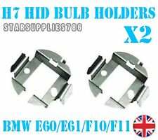2x H7 METALLO HID Conversione Kit BULB HOLDERS CLIP ADATTATORI BMW SERIE 5 E60 F10