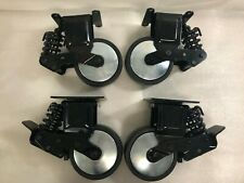 """NEW Set of 4 Heavy Duty 6"""" x 2"""" Spring Suspension Tool Box Casters 1,000 lbs(X42"""