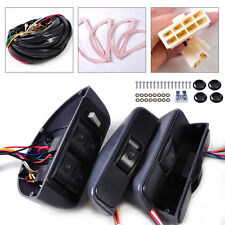 4x Universal Electric Power Window Lock 4 Rocker Switch Kit 12V For Car 4 Door