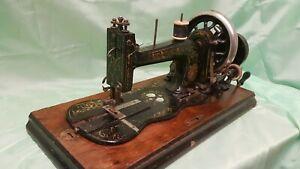 Antique Fiddle Base Sewing Machine ~ Mother of Pearl Inlay