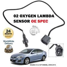 per MAZDA 6 2.2 dT Diesel R2AA / BF 2008-2013 02 Sonda Lambda Attacco Diretto