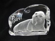 Crystal GLASS scolpite MARE Elefante scultura.