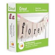 CRICUT Cartridge - Library Fonts - 2002245