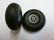 RA AA 1205 Model Aircraft Rubber Wheels 2.0 inches 50mm Pk. of 2