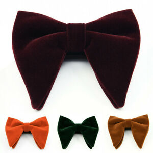 Mens Oversized Bow Tie Velvet Bow tie Men's Big Bow Tie Wedding Groom Party Wear