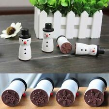Popular Snowman Snowflake Stamp XMAS Decor Scrapbooking Card Making Stamper 5t