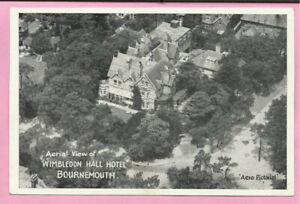 Aerial View of Wimbledon Hall Hotel, Bournemouth, Dorset postcard.