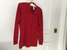 M&S Vintage Jumper Size 14 In 100% Lambswool In Red