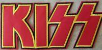 "KISS Logo Embroidered Big XL Jumbo Back Patch  Rock Band 11.25"" Long X 5"" Tall"