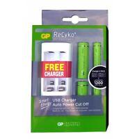 GP 2x AA 1000mAh + 2x AAA 400mAh GP Batteries - Free USB Charger