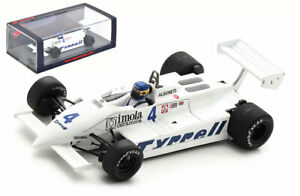 Spark S7281 Tyrrell 011 #4 'Tyrrell' Dutch GP 1981 - Michele Alboreto 1/43 Scale