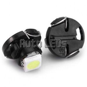 1 White SMD LED T4.7 Neo Wedge 12v Interior LED Bulb