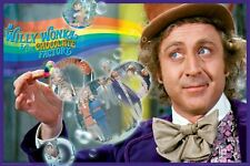 Willy Wonka and the Chocolate Factory Movie Poster Rainbow Bubbles Gene Wilder