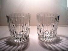 "(2) CRISTAL D'ARQUES  FRANCE  ON THE ROCKS GLASSES  ""BOULEVARD""  DISC 2013"